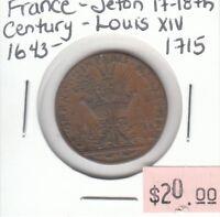 France - Jeton 17th-18th Century - Louis XIV 1643-1715