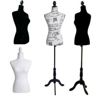 Female Mannequin Clothes Torso Clothing Dress Form Display Model W/Tripod Stand