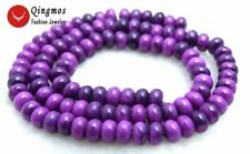 4*6mm Purple Rondelle Sugilite Loose Beads for Jewelry Making DIY Strand 15''