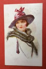 CPA. Illustrateur VIVIAN MANSELL. 1918. Jeune Fille. Glamour.