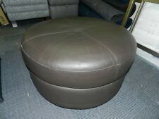 Stratos Brown Leather Twister Footstool RRP £789