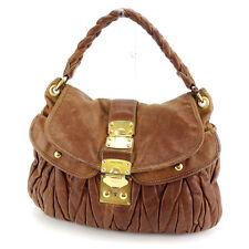 Auth MiuMiu Handbag Materasse Ladies used Y3890