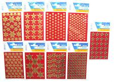 Sticker Weihnachten Motive - Sterne Gold 3 Bögen - Herma