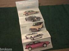 MINT 1982 VW VOLKSWAGEN VANAGON CAMPER JETTA RABBIT SALES BROCHURE (BOX 772)