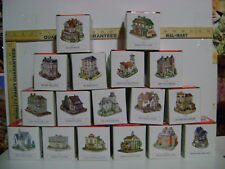 Bulk Lot of 17 Liberty Falls By The Americana Collection Collectible Houses