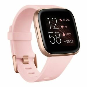Brand New Fitbit Versa 2 Health Fitness Smartwatch Heart Rate Petal Copper Rose