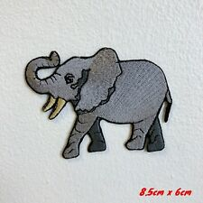Cool Elephant Huge Animal Embroidered Iron Sew on Patch #1809