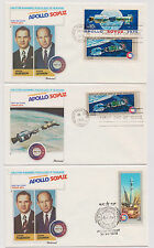 US Soviet Union 1975 FDC Space Joint Issue Apollo Soyuz 6 First Day Cvrs  |