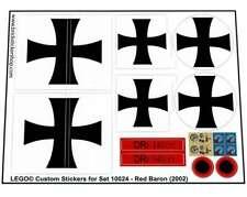 Precut Custom Replacement Stickers voor Lego Set 10024 - Red Baron (2002)