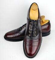 Vintage Keith Highlanders Mans Shoe Saddle Oxford 11 C Cordovan Black USA Made