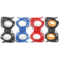 Cycling Bicycle Bike Mount Holder for Flashlight Torch Clip Clamps 360° Rotation