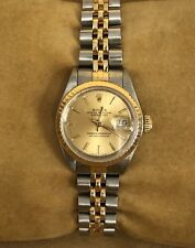 Ladies Rolex Datejust Jubilee 18K Gold Stainless Watch 69173 26mm Excellent Cond