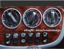 1998-2001 MERCEDES BENZ W163 ML M-CLASS A/C STAINLESS 57MM SWITCH RIM FRAME SET