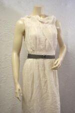 $318 BCBG RUNWAY OFF WHITE (AVZ66337) SLEEVELESS COTTON VOILE DRESS NWT 6