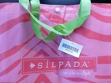 Silpada Pink Zebra Print Tote Bag XL Gym Diaper Bag Beach Animal Print