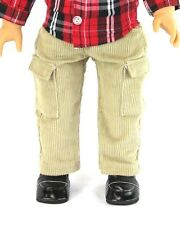 "FITS 18"" AMERICAN GIRL BOY DOLL CLOTHES Kaki Corduroy Pants"
