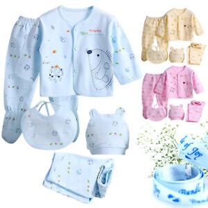 Newborn Baby Boy Girl Boy Cotton Clothing Set Outfit 0-3M Spring Fall 5/7/8P/Lot