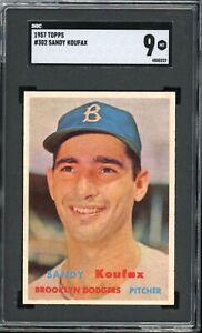 "Sandy Koufax 1957 Topps Brooklyn Card #302 SGC 9  ""High-End Very Tough* PSA"