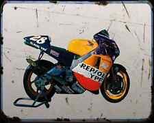 Honda Nsr 500 01 A4 Photo Print Motorbike Vintage Aged
