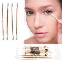 120PCS Double Head Cotton Buds Swab Tip Sticks Wooden Q-tips Applicato Makeup