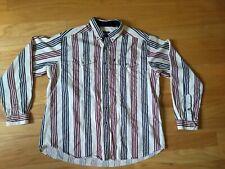 Rough Stock Panhandle Slim Men's Shirt 17.5/36 XL western striped red white blue