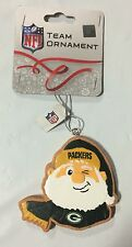 Green Bay Packers Gingerbread Winking SANTA Christmas Tree Holiday Ornament