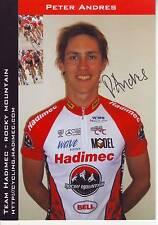 CYCLISME carte cycliste PETER ANDRES  équipe HADIMEC 2005 signée