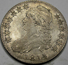 1814/3 O-101a Capped Bust Half Dollar Choice EF+  So Nice and Original, SCARCE!!