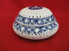 Royal Triever Porcelain Jewelry Box (Round) (A042)