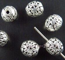 25pcs Tibetan Silver Bail Style Spacer Beads 8x7mm ZN1003