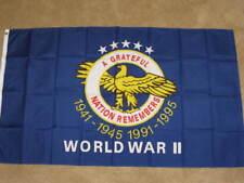 3X5 WORLD WAR II VETERANS FLAG WWII MEMORIAL WW2 F416