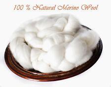 Fine Merino Top Roving Wool Spinning Felting Undyed Fiber - 1 lb