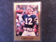 BUFFALO BILLS JIM KELLY PRECIOUS METAL CARD 999.9 FINE GOLD