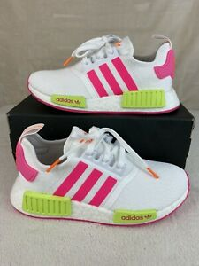 NEW Adidas NMD R1 Women Shoes Sneakers Size 6 Solar Pink Solar Yellow Orange