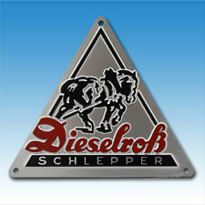 Fendt Dieselroß Schild Blechschild  Dieselross Traktor Schlepper
