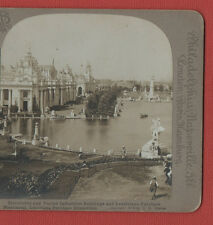 LOUISIANA PURCHASE EXPOSITION  1904 -MONUMENT -  VINTAGE STEREOVIEW