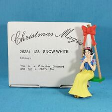 Boxed Disney Grolier Collectable Christmas Magic Ornament - Snow White On Swing