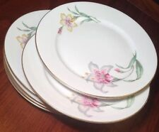 """6 ROSENTHAL Selb-Germany 6"""" US ZONE1946-49 BREAD SIDE PLATES Stargazer Lily Gold"""