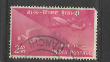 airmail commemorative - 1954 - nice pink india stamp - see scan