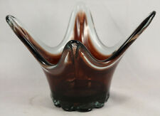 Retro/Mid Century Glass Ashtray/Vase Heavy Hand Blown Collectible Decoration