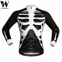 Mens Pro Cycling Jersey MTB Road Team Bike Sportswear Skeleton Vest Tops Shirts