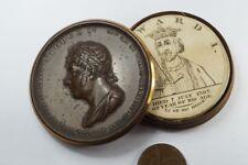 Antique English Copper King George Iv Coronation Commemorative Box c1821
