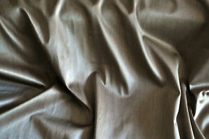"""""""Strata"""" strie satin soft furnishing fabric by Hardy, caramel, by the metre"""