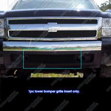 Fits 2007-2013 Chevy Silverado 1500 Bumper Black Billet Grille Grill Insert
