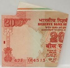 INDIA 1996 ... 20 RUPEES ... COLLECTOR'S MISPRINT NOTE ...  MISCUT