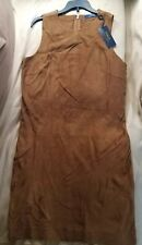 Polo Ralph Lauren $998 Suede Long top Saddlery Brown Size 0 Rare