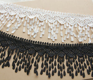 BF62 1 Yard,Tassel Lace Trim Crochet Ribbon Embroidered Sewing Applique Ribbon