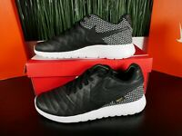 Nike Roshe Tiempo VI FC Black Leather Mens Shoes 852613 002 Multi Size