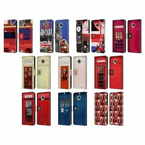 HEAD CASE DESIGNS I LOVE LONDON LEATHER BOOK CASE FOR MOTOROLA PHONES