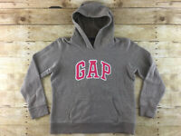 GAP Logo Hoodie Sweatshirt Top Womens Large Brown Pink Stitched